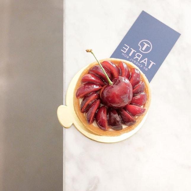 PSA: @tartebycherylkoh 's famous Cherry Tart ($9) is back!