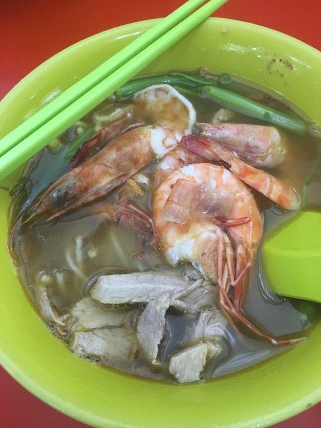 Prawn Pork Rib Noodle Soup