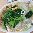 Seafood White Bee Hoon With Lala