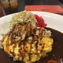 Pork Shabu-Shabu Omelette Rice #cheryleatsalot .