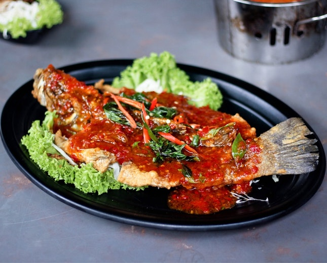 Drop Fried Fish With special Sauce ($22)