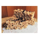 Almond mocha Rice Krispies protein bar for the 👦