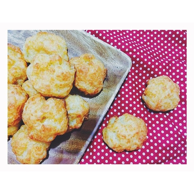 Pao de queijo aka Brazilian cheese bread  Had been craving for it since forever.