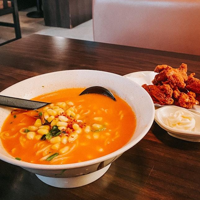 Shiokk Spicy Ramen with Karage Chicken