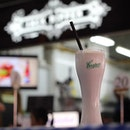 MILKSHAKE $8.50  Served with cookie crumbs on the top is this cookies and cream milkshake.
