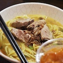 Pork rib noodles dry $5.80  Loved the tender and juicy pork meat that came off the bone so easily!