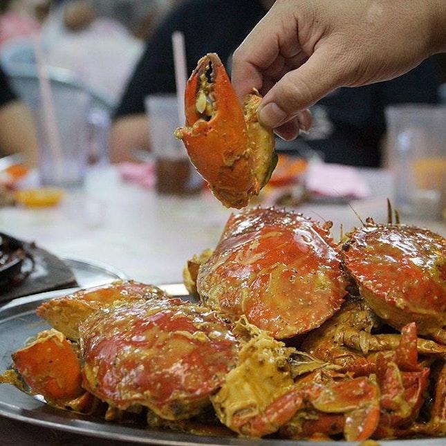 Salted egg crab in Melaka!