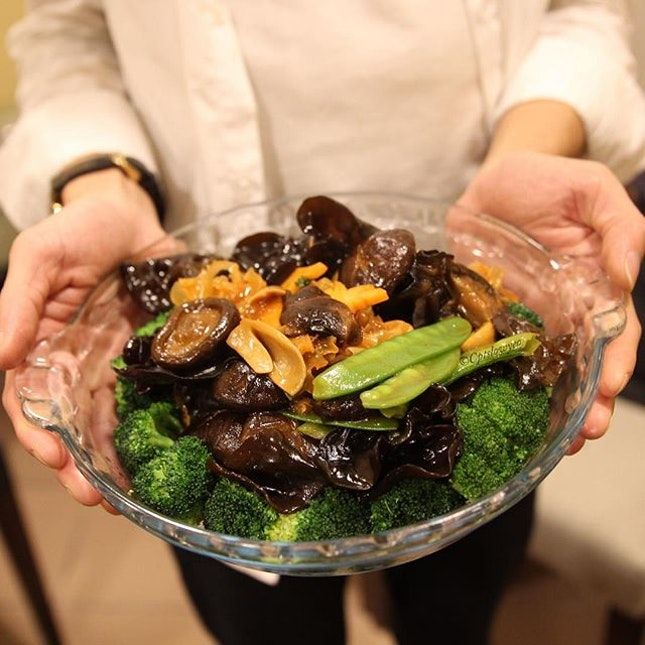 Braised Vegetables $18  Lots of mushroom juices to moisten up the broccoli!