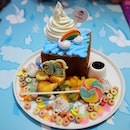 My Little Pony Rainbow 🌈Dash 💙🦄 Shibuya Toast $24.90+ 🍦🍞 The highlight of my day today!