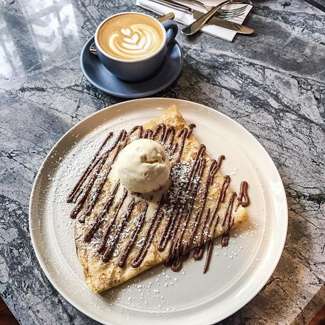 Sweet Chocolate Crepes [S$12] made with premium wheat flour and infused with artisanal butter by Jean-Yves Bordier.