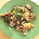 Ah Chuan Oyster omelette.