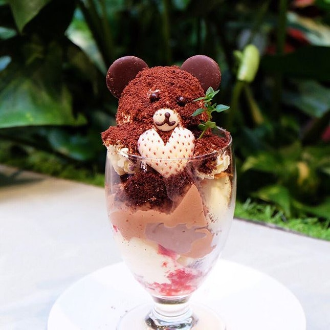 Baristart Coffee Singapore  Celebrate Valentine's Day with this Super adorable Kuma Parfait that's sure to make your SO happy.