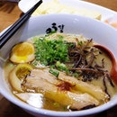 UMA UMA RAMEN We ordered the classic Uma Uma Ramen which consists of Hakata-style thin ramen noodles submerged in this delicious and rich Tonkotsu Broth with charsiew, spring onions, black fungus and egg, You can find a dollop of spicy miso on the charsiew.