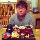 Birthday Boy with his Sakura Bento set #birthday #celebration #brother #family #dinner #monday #japanese