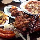 3 Big Pigs ($90) with ribs, sausages and pork knuckle.