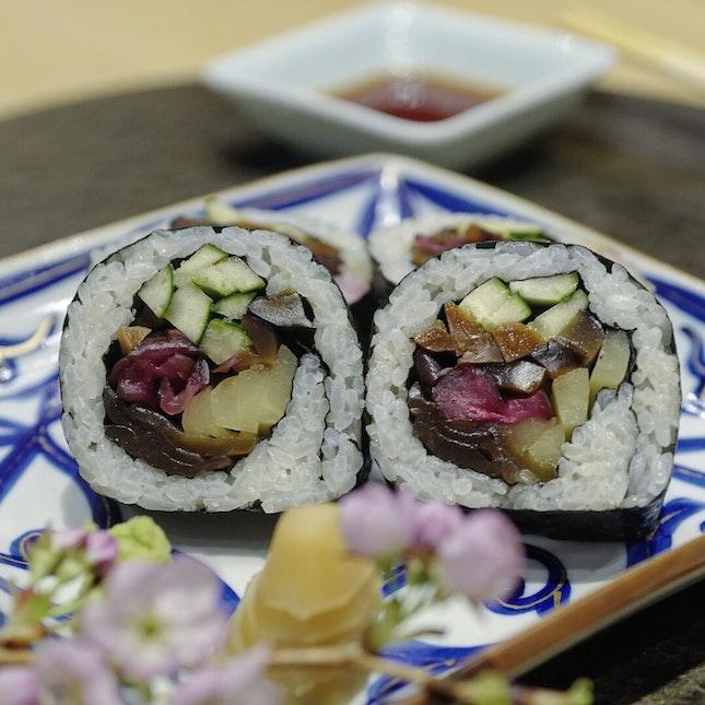 Vegetarian Omakase 🌱 at Oribe Sushi restaurant #amayzing🌱 #Burpple #amayzing_bukitbintang