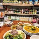 Restaurant inside an organic grocery shop.