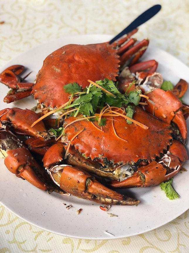 Salt Baked Crab