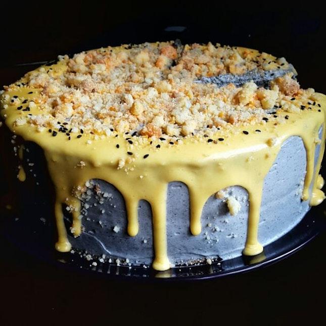 Salted Egg Black Sesame Cake ($9/slice)