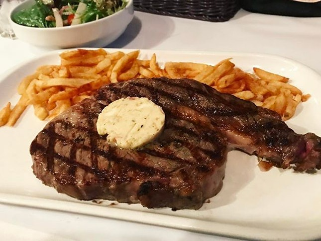 Rib-eye steak ($39.80) .