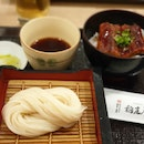 Unagi Don & COLD Udon Set + Houjicha (Refillable) + Matcha Warabimochi [$34.80 / 2]