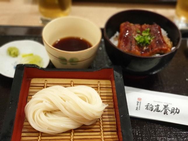 Unagi Don & COLD Udon Set + Houjicha (Refillable) + Matcha Warabimochi [$34.80 / 2]