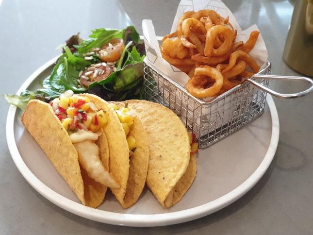 Crispy Fish Fillet Tacos [$25 / 2]