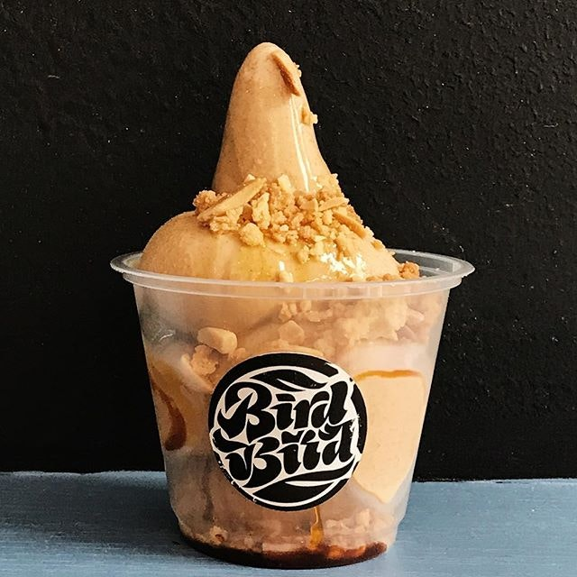 I am so glad the toasted milk soft serve from @birdbirdsg now comes in a smaller portion than the softie pies.