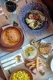 Orecchiette Pork Saugsage Saffron Sauce, Baked Lasagna 'Grandma' Style, Grilled Fish And Seafood Platter, Traditional Stuffed Roman Schiacchiata & Assorted Cold Cuts Selection