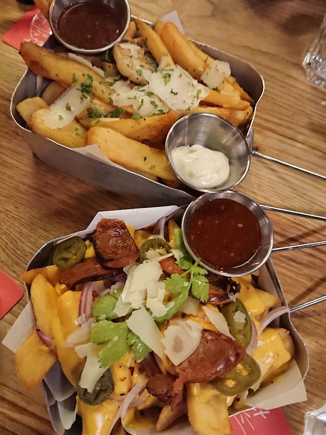 Truffle Fries And Cheese Fries