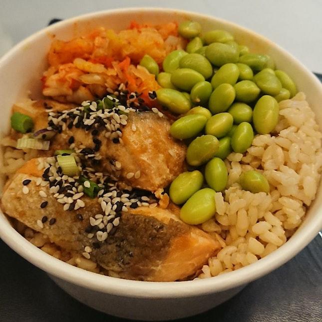 Teriyaki Salmon Bowl ($10)