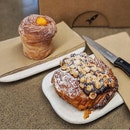 Almond Croissant (AUD9.20) & Lemon-curd Cruffin (AUD7.20)