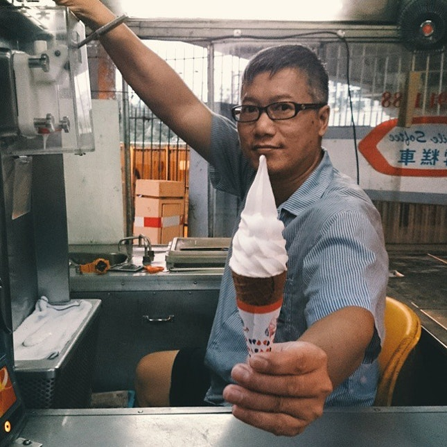 Mister Softee, the coolest man in all of Hong Kong.