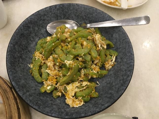 Salted Egg Bittergourd Stir Fry