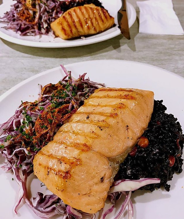 Hickory Smoked Salmon - $19 I love how well the salmon goes w forbidden grains and purple cabbages.