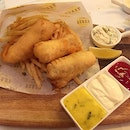 Over-priced and over-fried Fish n chips