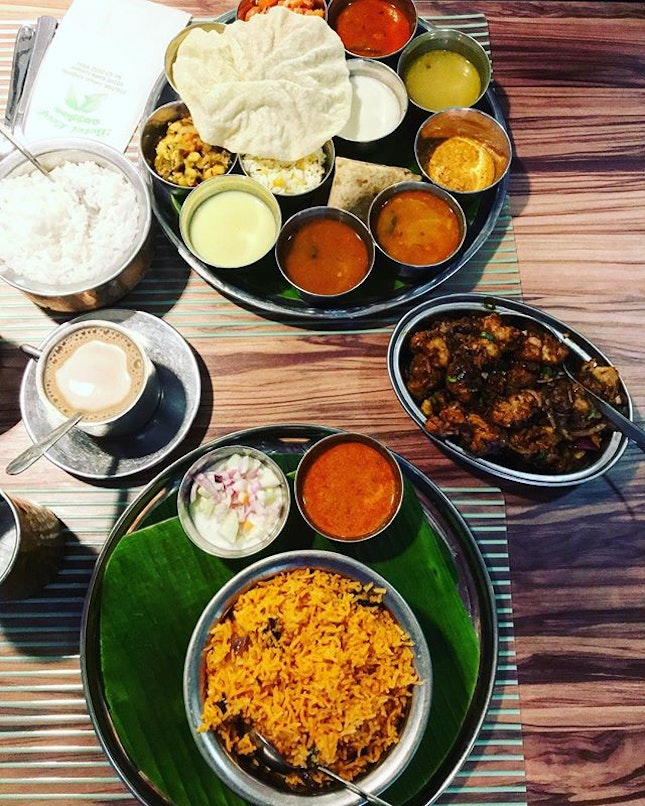 """A colourful lunch~ this is my regular """"must answered cravings"""" place when it comes to lamb briyani and gobi Manchurian (cauliflower)!"""