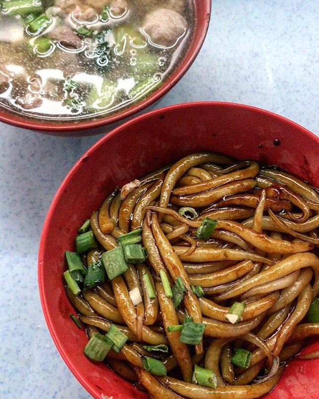 Pork dried noodles (RM7) to kill the Monday blue...