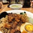Taiwanese minced pork noodles instead of rice, I kinda like it!