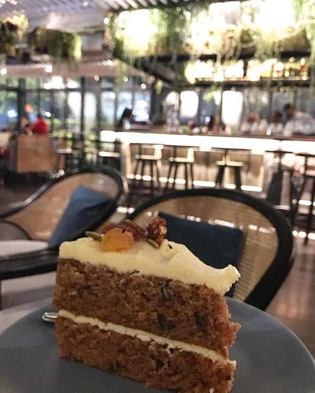 A very, very yummy carrot cake...