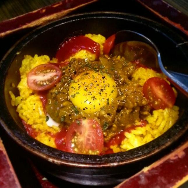 Curry Minced Pork Rice