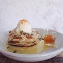 Orange poppyseed pancake 🍊🍴☕️ #SecondSunday #sundaybrunch