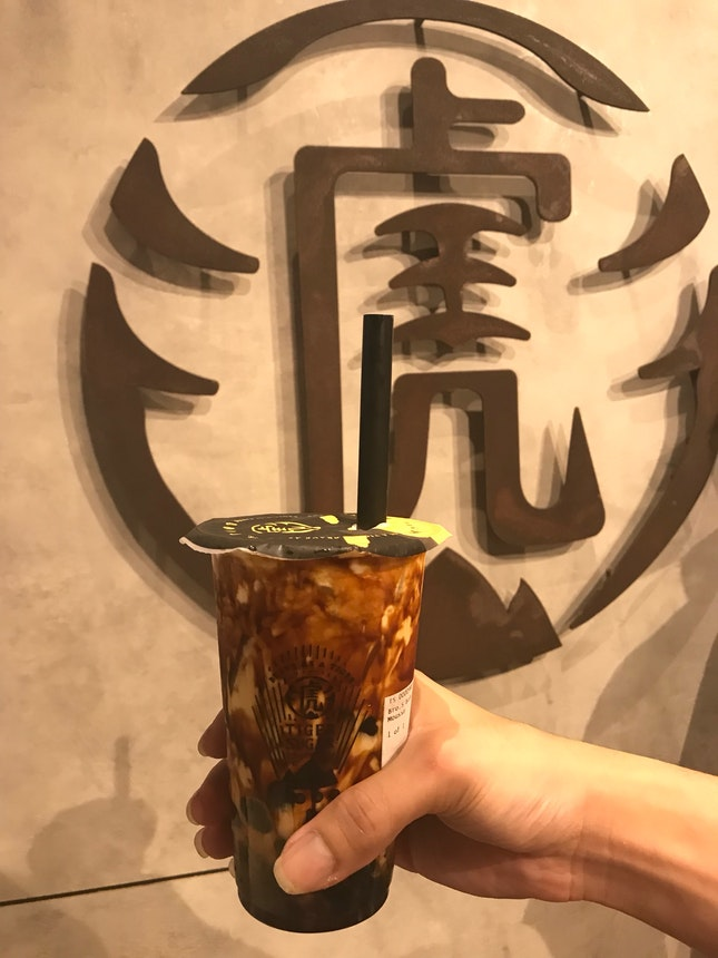 Tiger Sugar Milk Tea With Foam