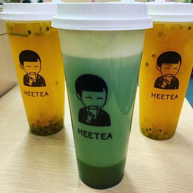 Brown sugar was sold out by the time our craving hits~ alternative was the Passion Fruit Mango and Matcha Cheese Tea!