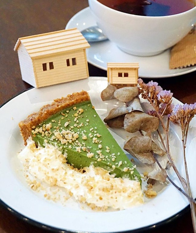 Matcha Pie ($8.90) Creamy smooth, lightly sweet yet bringing forth all aspects of bitter & earthy flavour that makes it so addictive.