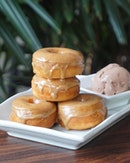 Indulge in these Ca Phe Banh Ran - Vietnamese coffee glazed doughnuts from @redsparrowsg.