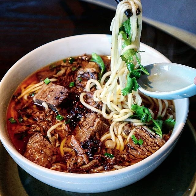 The rain and a chilly morning seduced me to try this bowl of steamy beef short rib noodles in szechuan broth.