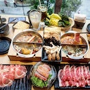 @city_hot_pot offers different sets, ranging from wagyu beef set, seafood to even vegetarian.