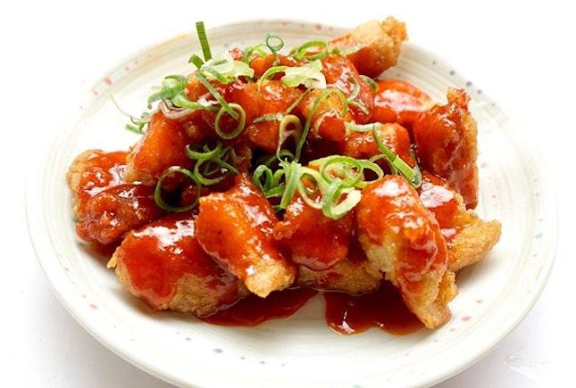Homemade Yangnyeom Chicken.