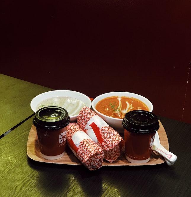 soup + modern popiah + drink [$9.80 nett]